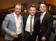 Derek Hough, Travis Wall, and Dom Palange - September 18, 2015 (Image Credit: Jason Kempin via Entertainment Weekly)